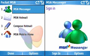 MSN Messenger on Pocket MSN